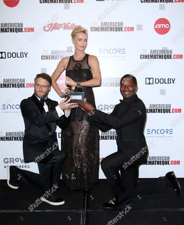 Stock Photo of Seth Rogen, Charlize Theron and David Oyelowo