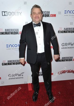 Patton Oswalt arrives at the 33rd American Cinematheque Award honoring Charlize Theron at the Beverly Hilton Hotel, in Beverly Hills, Calif