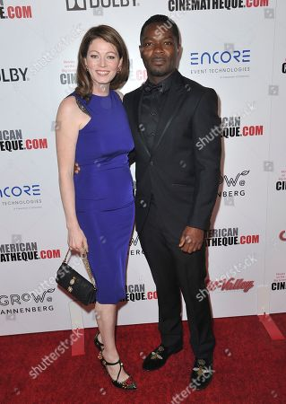 Jessica Oyelowo, David Oyelowo. Jessica Oyelowo, left, and David Oyelowo arrive at the 33rd American Cinematheque Award honoring Charlize Theron at the Beverly Hilton Hotel, in Beverly Hills, Calif
