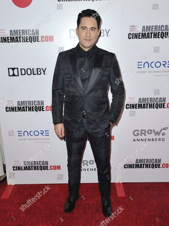 Stock Photo of John Lloyd Young arrives at the 33rd American Cinematheque Award honoring Charlize Theron at the Beverly Hilton Hotel, in Beverly Hills, Calif