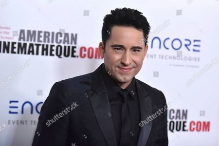 Stock Picture of John Lloyd Young arrives at the 33rd American Cinematheque Award honoring Charlize Theron at the Beverly Hilton Hotel, in Beverly Hills, Calif