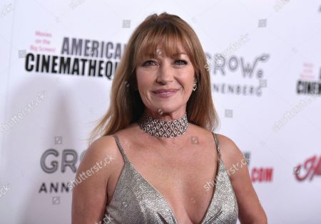 Jane Seymour arrives at the 33rd American Cinematheque Award honoring Charlize Theron at the Beverly Hilton Hotel, in Beverly Hills, Calif