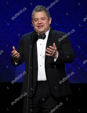 Patton Oswalt speaks at the 33rd American Cinematheque Award honoring Charlize Theron at the Beverly Hilton Hotel, in Beverly Hills, Calif