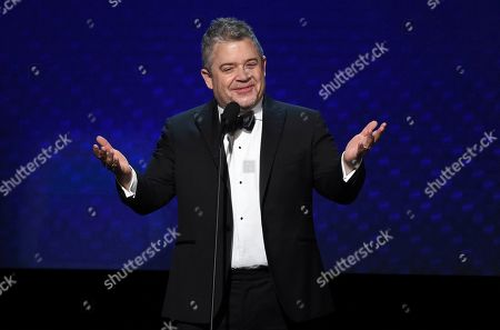 Stock Image of Patton Oswalt speaks at the 33rd American Cinematheque Award honoring Charlize Theron at the Beverly Hilton Hotel, in Beverly Hills, Calif