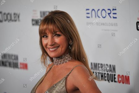 Jane Seymour poses for photographers upon her arrival for the American Cinematheque 2019 Award Show at the Beverly Hilton in Los Angeles, California, USA, 08 November 2019.