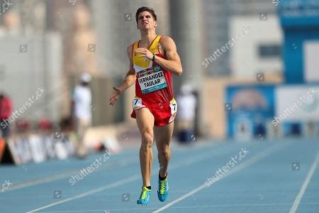 Jose Luis Fernandez Taular of Spain in action during the Men's 400m T12 at the World Para Athletics Championships in Dubai, United Arab Emirates, 09 November 2019. The sporting event runs from 07 through to 15 November.