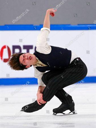 Keiji Tanaka of Japan performs during the men's Free Skating program at the 2019 Shiseido Cup of China ISU Grand Prix of Figure Skating in Chongqing, China, 09 November 2019.