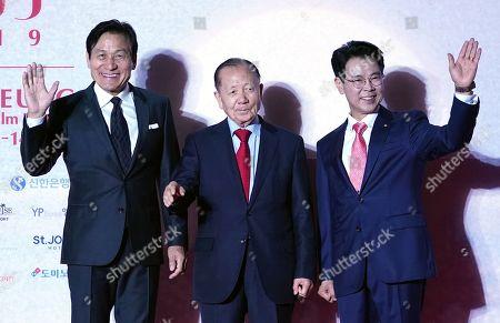 Stock Picture of Ahn Sung-ki, Kim Dong-Ho of GIFF Chairman of Organizing Committee, Kim Han-Geun of Mayor of Gangneung City