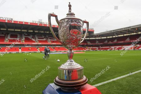 The Brian Clough Trophy before the EFL Sky Bet Championship match between Nottingham Forest and Derby County at the City Ground, Nottingham