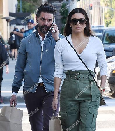 Stock Picture of Jose Baston and Eva Longoria
