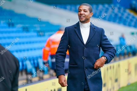 Jermaine Beckford arrives at the ground during the EFL Sky Bet Championship match between Leeds United and Blackburn Rovers at Elland Road, Leeds