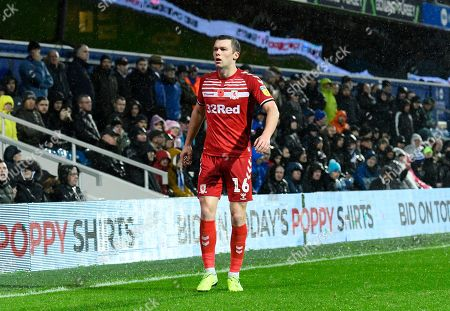 Jonathan Howson (16) of Middlesbrough during the EFL Sky Bet Championship match between Queens Park Rangers and Middlesbrough at the Kiyan Prince Foundation Stadium, London