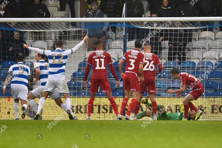 Own Goal - Jonathan Howson (16) of Middlesbrough looks dejected after scoring an own goal to give QPR a 2-1 lead during the EFL Sky Bet Championship match between Queens Park Rangers and Middlesbrough at the Kiyan Prince Foundation Stadium, London