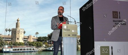 Luis Tosar takes part in the announcement of the nominations to the awards of the 32nd edition of the European Film Festival held in Seville, Spain, 09 November 2019. Some of the films that stand chances in btaining an award are 'Dolor y Gloria' (Almodovar), 'J'accuse' (Polanski), 'Sorry We Missed You' (Ken Loach), or 'El Reino' (Sorogoyen) amongst others. The European Film Festival is held from 08 to 16 November 2019.