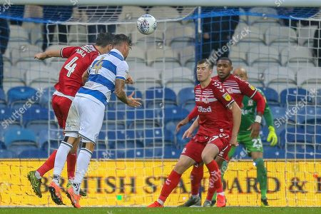 GOAL 2-1 Queens Park Rangers defender Grant Hall (4) header, deflects off Middlesbrough midfielder Jonathan Howson (16) OWN GOAL, during the EFL Sky Bet Championship match between Queens Park Rangers and Middlesbrough at the Kiyan Prince Foundation Stadium, London