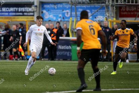 Frank Vincent of Torquay United in action during Maidstone United vs Torquay United, Emirates FA Cup Football at the Gallagher Stadium on 9th November 2019