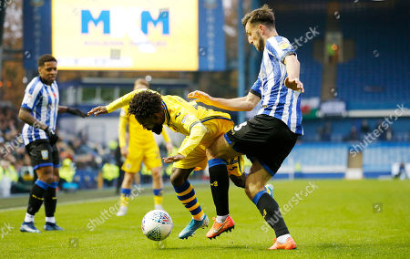Nathan Dyer of Swansea and Morgan Fox of Sheffield Wednesday