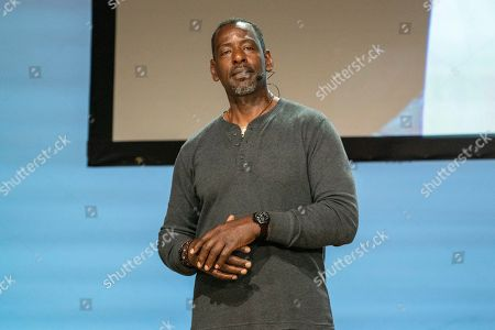 Ron Finley seen on day one of Summit LA19 in Downtown Los Angeles, in Los Angeles