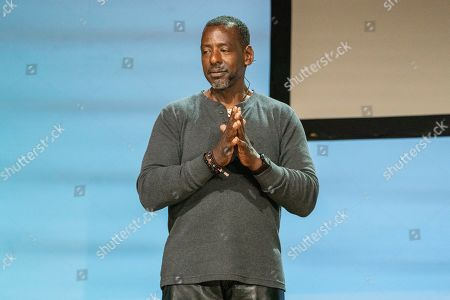 Stock Photo of Ron Finley seen on day one of Summit LA19 in Downtown Los Angeles, in Los Angeles