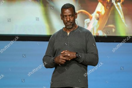 Stock Image of Ron Finley seen on day one of Summit LA19 in Downtown Los Angeles, in Los Angeles