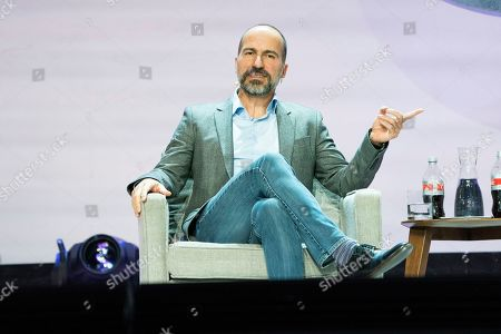 Uber CEO Dara Khosrowshahi seen on day one of Summit LA19 in Downtown Los Angeles, in Los Angeles