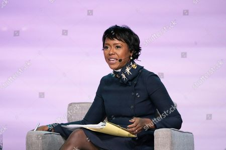 Mellody Hobson seen on day one of Summit LA19 in Downtown Los Angeles, in Los Angeles
