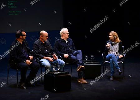 James Mangold, Michael McCusker, Tracy Letts, Anne Hubbell are seen at the Produced By: New York Conference at Florence Gould Hall, in New York