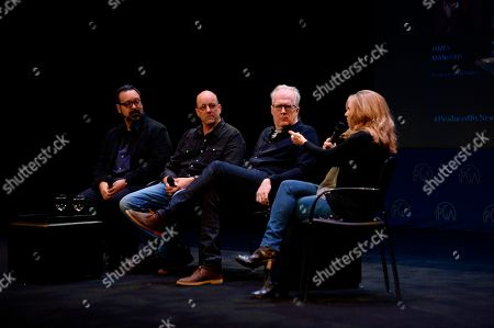 Stock Photo of James Mangold, Michael McCusker, Tracy Letts, Anne Hubbell are seen at the Produced By: New York Conference at Florence Gould Hall, in New York