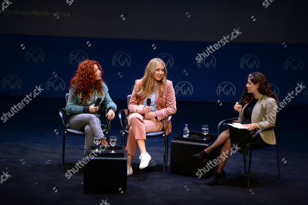 Alma Har'el, Daniela Taplin Lundberg, Frida Torresblanco are seen at the Produced By: New York Conference at Florence Gould Hall, in New York