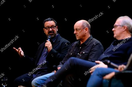 James Mangold, Michael McCusker, Tracy Letts are seen at the Produced By: New York Conference at Florence Gould Hall, in New York