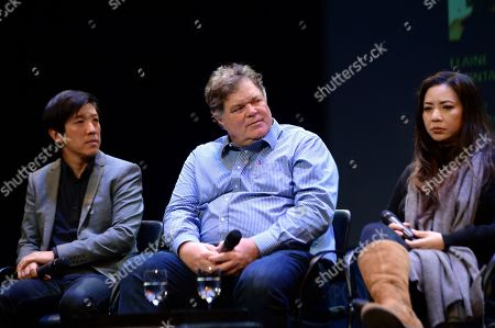 Dan Lin, Banks Tarver, Nina Yang Bongiovi as seen at the Produced By: New York Conference at Florence Gould Hall, in New York