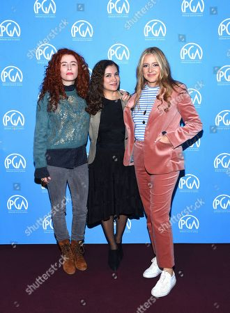 Alma Har'el, Frida Torresblanco, Daniela Taplin Lundberg are seen at the Produced By: New York Conference at Florence Gould Hall, in New York