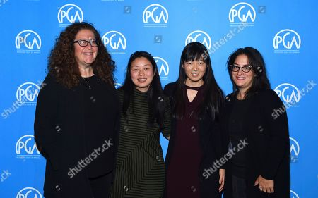 Julie Goldman, Nanfu Wang, Jialing Zhang, Marilyn Ness are seen at the Produced By: New York Conference at Florence Gould Hall, in New York