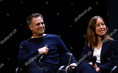 Mark Ruffalo, Pamela Koffler are seen at the Produced By: New York Conference at Florence Gould Hall, in New York