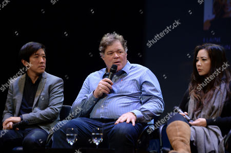 Stock Photo of Dan Lin, Banks Tarver, Nina Yang Bongiovi as seen at the Produced By: New York Conference at Florence Gould Hall, in New York