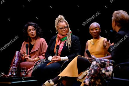 Debra Martin Chase, Kasi Lemmons, Cynthia Erivo, Tonya Lewis Lee as seen at the Produced By: New York Conference at Florence Gould Hall, in New York