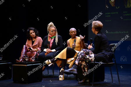 Kasi Lemmons, Cynthia Erivo, Tonya Lewis Lee as seen at the Produced By: New York Conference at Florence Gould Hall, in New York