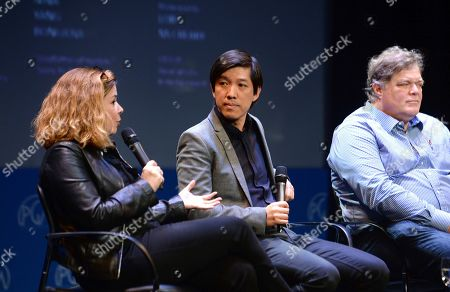 Elaine Frontain Bryant, Dan Lin, Banks Tarver are seen at the Produced By: New York Conference at Florence Gould Hall, in New York