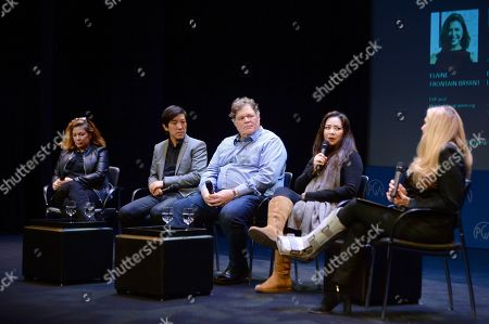 Elaine Frontain Bryant, Dan Lin, Banks Tarver, Nina Yang Bongiovi, Lori McCreary as seen at the Produced By: New York Conference at Florence Gould Hall, in New York
