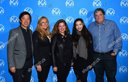 Dan Lin, Lori McCreary, Elaine Frontain Bryant, Nina Yang Bongiovi, Banks Tarver are seen at the Produced By: New York Conference at Florence Gould Hall, in New York