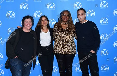 Christine Vachon, Pamela Koffler, Lisa Cort's, Mark Ruffalo. Christine Vachon, Pamela Koffler, Lisa Cortés, Mark Ruffalo are seen at the Produced By: New York Conference at Florence Gould Hall, in New York