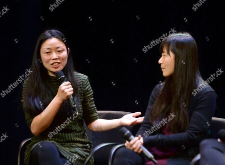 Nanfu Wang, Jialing Zhang, are seen at the Produced By: New York Conference at Florence Gould Hall, in New York