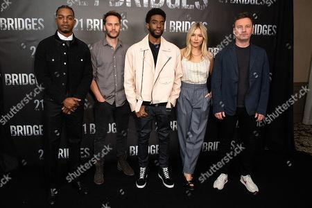 Stock Photo of Stephan James, Taylor Kitsch, Chadwick Boseman, Sienna Miller and Brian Kirk