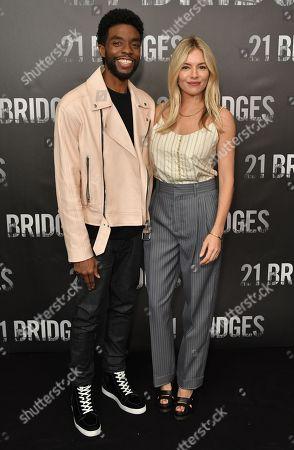 Chadwick Boseman and Sienna Miller