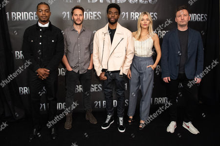 Stock Picture of Stephan James, Taylor Kitsch, Chadwick Boseman, Sienna Miller and Brian Kirk