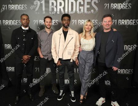 Stephan James, Taylor Kitsch, Chadwick Boseman, Sienna Miller and Director Brian Kirk