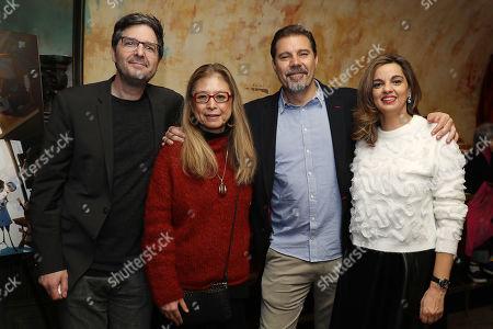 Stock Picture of Mark Osborne, Jinko Gotoh (Producer), Sergio Pablos (Director) and Marisa Roman (Producer)