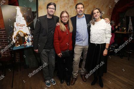 Mark Osborne, Jinko Gotoh (Producer), Sergio Pablos (Director) and Marisa Roman (Producer)