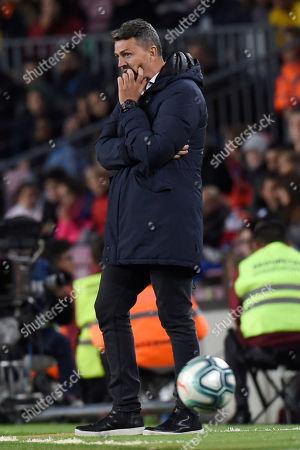 Stock Photo of RC Celta new head coach Oscar Garcia
