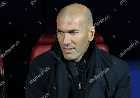 Stock Image of Zinedine Zidane, head coach of Real Madrid CF from France